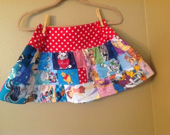 Everything Disney 4t,5t maybe 6 skirt  -ready to ship - Tinkerbell, Princess, Minnie -