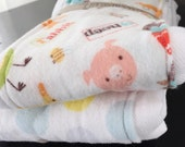 New Baby Burp Cloth - Set of 2 - On the Farm