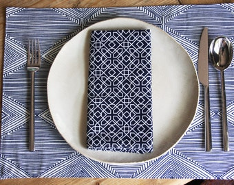Placemats - Set of 4 - Navy Linea