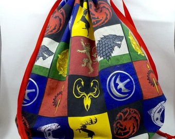 Game of Thrones Drawstring Project Bag