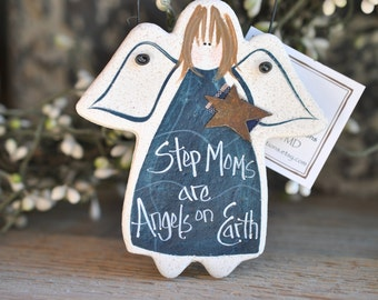 Step Moms Gift Salt Dough Ornament / Stepmom Birthday Gift