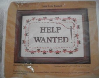 Help Wanted Cross Stitch Kit