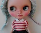Ready to ship/Doll hair/ Hair Blythe doll/nature alcap black/ligh blue/yello green/purple/ scalp for Blythe Doll 6 inches