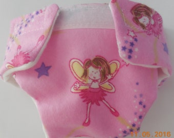 Doll diaper cloth #2 READY TO SHIP adjusts washable fairy w wand diaper fits bitty baby cabbage patch fur real monkey stuffed animals & more