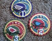 Custom Order for lindajoan - 3 Ribbon Medallions