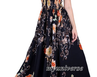 Black Maxi Dress Women Plus Sizes Clothing Long Floral Maternity Dress Casual Beach Party Wedding Guest Blue Chiffon Summer Sundress