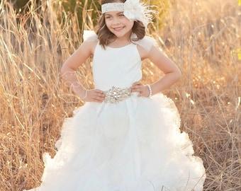 flower girl dress, flower girl dresses, white flower girl dress, baby dress, white tutu dress, white maxi dress, baptism dress, beach