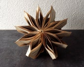 "Paper Art Book Sculpture ""Star anise"""