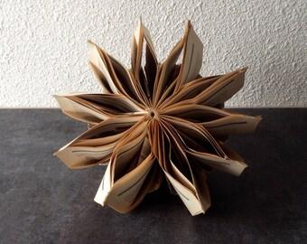 """Paper Art Book Sculpture """"Star anise"""""""