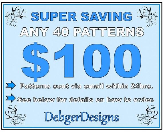 SUPER SAVING - Loom beading patterns 40 for 100 Dollars