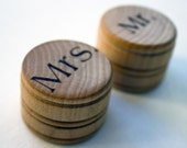 Wedding Ring Box Mr and Mrs A Unique Ring Bearer Pillow Alternative set of 2 with personalization NAS