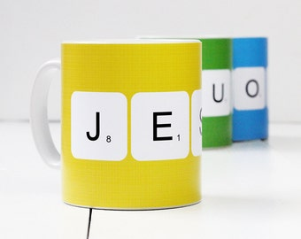 Personalised 'Scrabble Mug' Mug