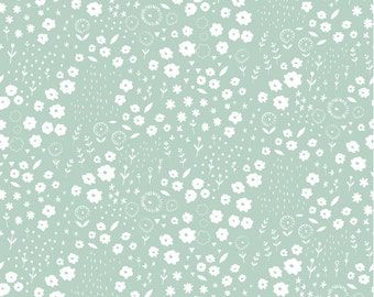 Faraway Forest in Daydream Blue by Lizzie Mackay for Blend Fabrics