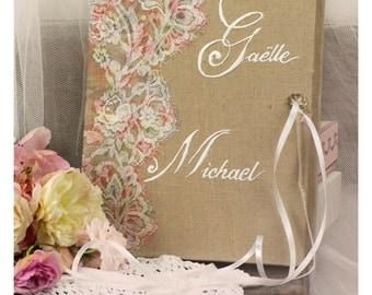 """Guest book """"Nuage de Dentelle"""" lace from France Alicia et Julien Private"""