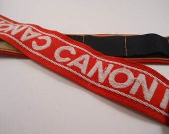 Canon Camera Strap Vintage Red White