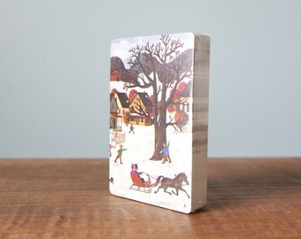 Vintage Deck of Trump Playing Cards - Snowy Winter Horse Scene - Made in the USA