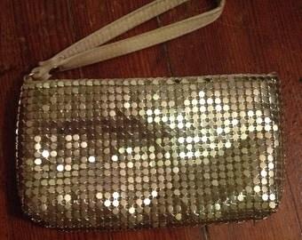 Small Gold clutch wristlet handbag purse