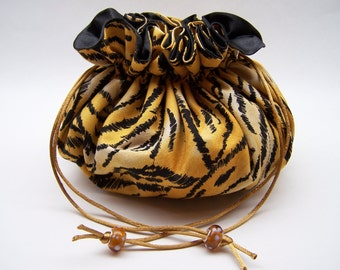 Tiger Print Jewelry Pouch