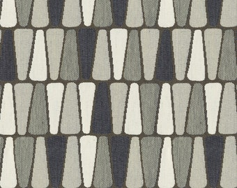 Scaled Geometric Upholstery Fabric - Refreshing Print for Transitional to Modern Decor. Color: Terrazzo Flannel - Per Yard