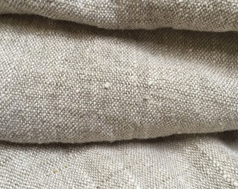 "49 "" x 55"" - One Piece - Double Washed Oatmeal Linen -100% Flax Linen -Soft Washed -For Home Furnishings and Clothing - Pattern: St. Germain"