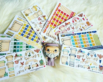 Hogwarts House Bullet Journal Sticker Kits- Hand Drawn Harry Potter Inspired Stickers (Choose Your House)
