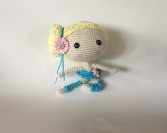 Crocheted Ballerina - Handmade Ballerina - Collectible Doll - Ballerina Amigurumi