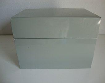 Recipe Box,  Metal  File Box,  Metal Recipe Box, Office File Box, Industrial Style Box