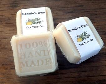 Tea Tree Oil Soap, 2 oz Soap Bar, Bath Soap, Goat Milk Soap, Essential Oil Soap, Tea Tree Soap, Tea Tree Oil, camphoraceous Scent,