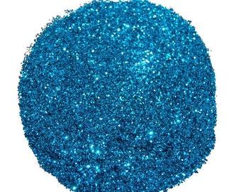 Teal Blue SOLVENT RESISTANT Glitter 0.015 Hex - 1 Fl. Ounce for Glitter Nail Art, Glitter Nail Polish & Glitter Crafts