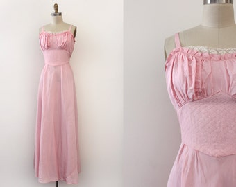 CLEARANCE vintage 1930s gown // 30s pink afternoon evening dress