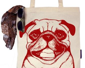 Ruby the Pug - Eco-Friendly Tote Bag