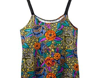 Eco Friendly Vintage Fabric Vest Top