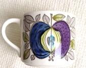 Vintage Rorstrand Espresso Coffee Cup.  Marianne Westman, Eden Pattern.  Sweden.  Mid century modern, Danish Modern, Eames era. 1960's.