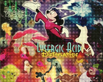 Lysergic Mickey Fantasia Blotter Art