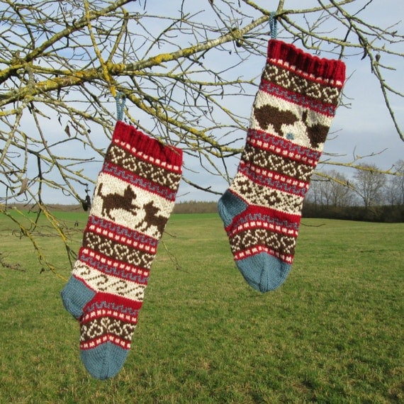 Knitting Pattern Kittens Christmas Stockings and Stranded