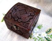 Jewelry box Ring box Wood box Wooden box Jewellery box Wood carving Wedding wooden jewelry box schatulle Jewelry boxes boite a bijoux B40