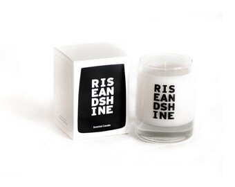 Bergamot Scented Candle in Reusable Whiskey Glass (Rise and Shine)