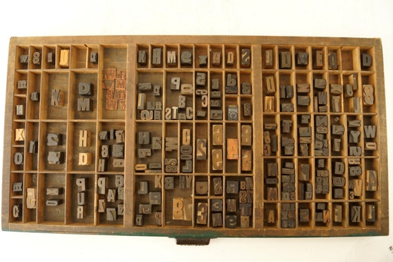 vintage letterpress drawers card - photo #16