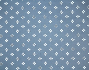 Vintage Wallpaper by the Yard 80s Retro Wallpaper – 1980s Blue and White Geometric
