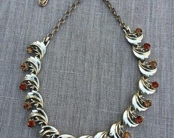 Vintage coro rhinestone choker necklace