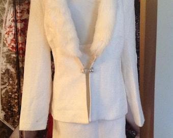 1/2 price!!! 1980s Joseph Ribkoff VOLUP 2 pc suit  1940s style