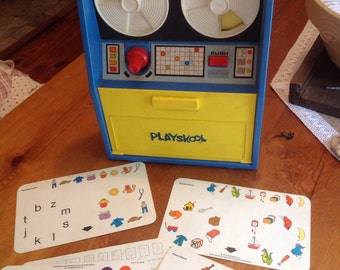 1970s Playskool Computer toy Vintage toy number letter learning game