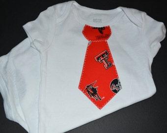 Texas Tech University Children's Tie Bodysuit or T-Shirt
