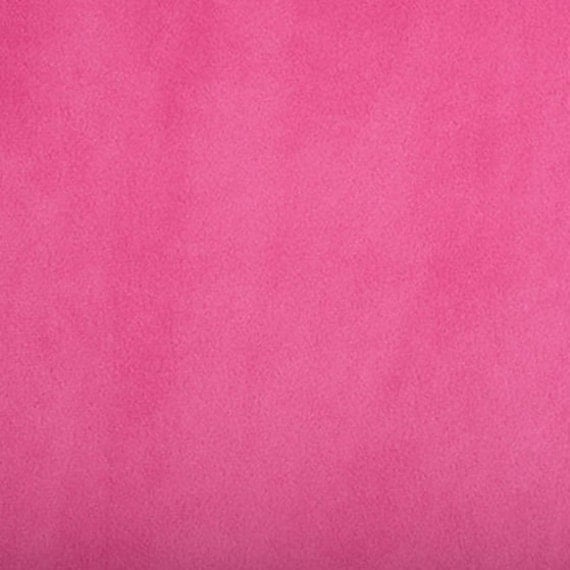 Fuchsia Minky Cuddle 3 Smooth Hot Pink Fuchsia/Sold by The Yard/Hot Pink Minky/Fuchsia Minky/Solid Minky/Medium to Heavy Weight/By The YARD