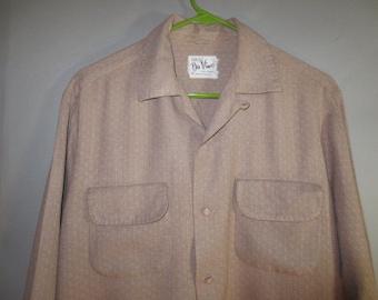 SALE***1950's Atomic Rayon Gabardine / DaVinci / Flap Pockets, Loop Collar ...m