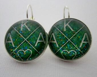 AKA Alpha Kappa Alpha Star Girl Earrings