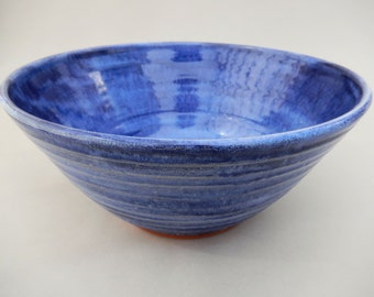 Mixing Bowl - Blue Pottery Serving Bowl