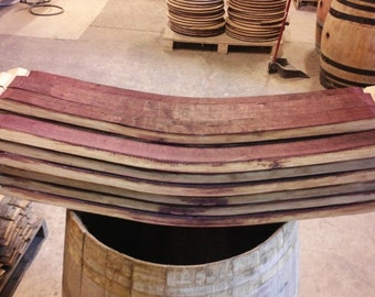 25 Oak Wine Barrel Staves French oak, arts and crafts