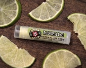 LIMEADE Natural Lip Balm - with Organic Lime and Mango Butter .15 oz Stocking Stuffer