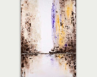 Original Abstract Art -Modern painting -Textured Painting- Home decor oil on canvas- City art